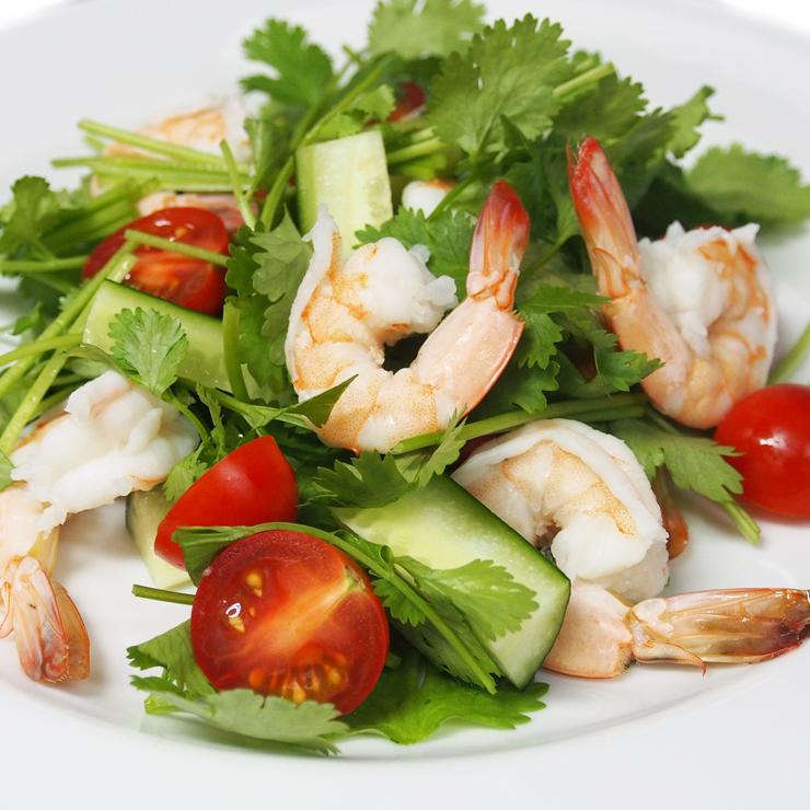 海老とパクチーのサラダ